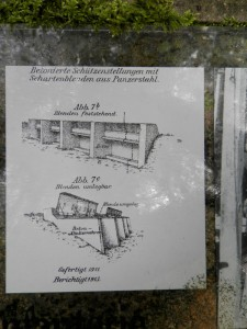 Lower picture illustrates design of following trenches.
